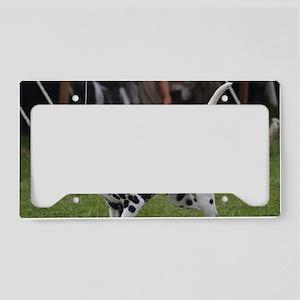 Fire Dog License Plate Holder