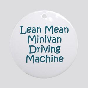 Minivan Mom Ornament (Round)