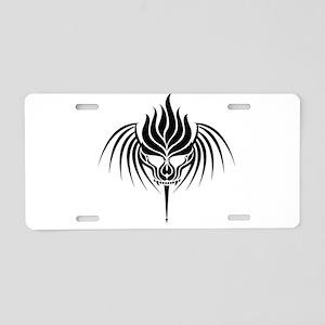 Skull Art ~ Tribal Skull wi Aluminum License Plate