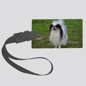 Cute Japanese Chin Large Luggage Tag