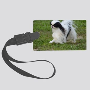 Japanese Chin Puppy Large Luggage Tag