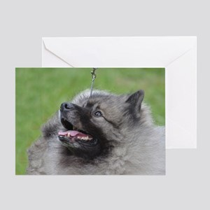 Fluffy Keeshond Greeting Card