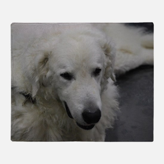 Kuvasz Dog Throw Blanket