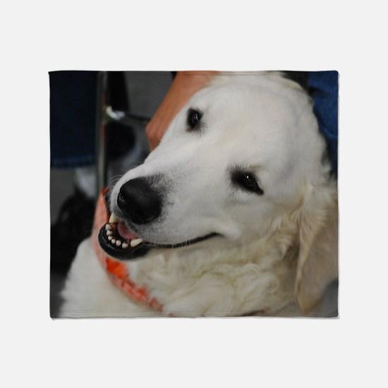 Adorable Kuvasz Dog Throw Blanket