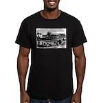 Vintage English Regatt Men's Fitted T-Shirt (dark)