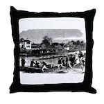 Vintage English Regatta Throw Pillow