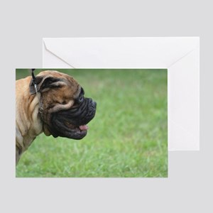 Bullmastiff Profile Greeting Card