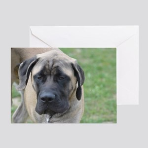 Cute English Mastiff Dog Greeting Card
