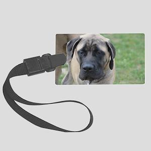 Cute English Mastiff Dog Large Luggage Tag