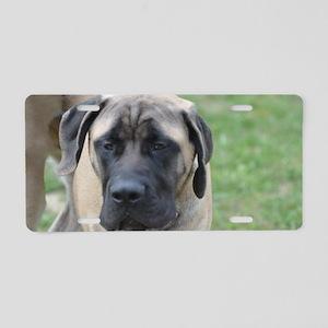 Cute English Mastiff Dog Aluminum License Plate
