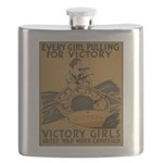 Vintage war effort rowing Flask