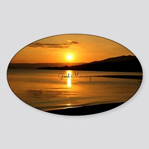 Sunrise - Good Morning Sticker (Oval)