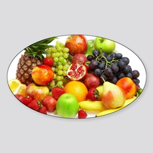 Mixed Fruits Sticker (Oval)