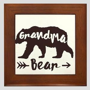 Grandma Bear Framed Tile