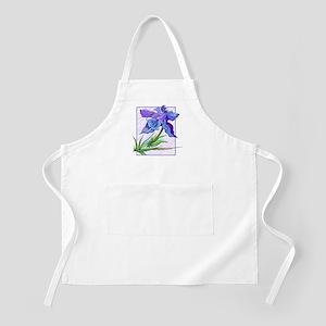 Purple Iris BBQ Apron