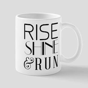 Rise shine and run Mugs