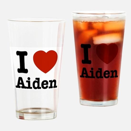 I love Aiden Drinking Glass