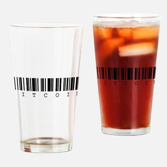 Bitcoin Barcode Drinking Glass