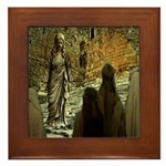 Jesus Teaching at The Temple Framed Tile