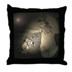 Sheperds Watch The Flocks By Night Throw Pillow
