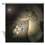 Sheperds Watch The Flocks By Night Shower Curtain