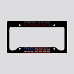 Polish American Text Flags License Plate Holder