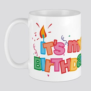 It's My Birthday Letters Mug