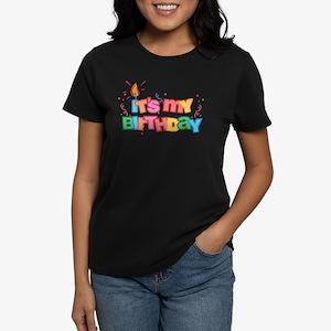 It's My Birthday Letters Women's Dark T-Shirt