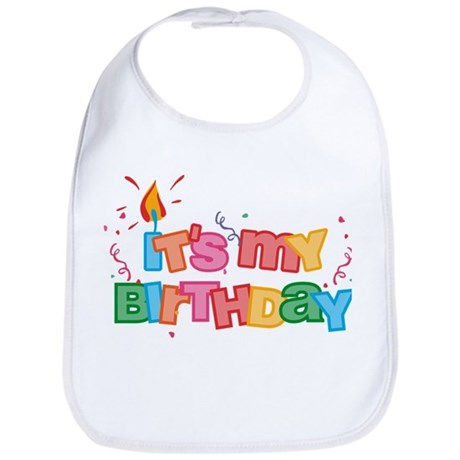 It's My Birthday Letters Bib