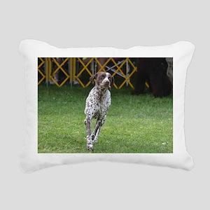 Cute German Pointer Rectangular Canvas Pillow