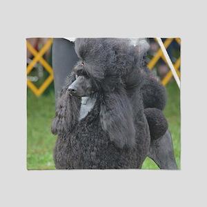 Poised Poodle Throw Blanket
