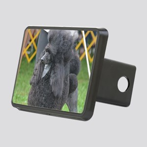 Poised Poodle Rectangular Hitch Cover