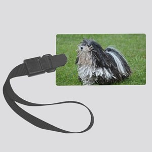 Adorable Puli Dog Large Luggage Tag