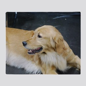 Golden Retriever Dog Throw Blanket