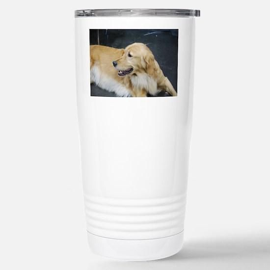 Golden Retriever Dog Stainless Steel Travel Mug