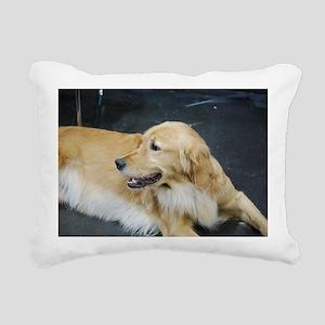 Golden Retriever Dog Rectangular Canvas Pillow