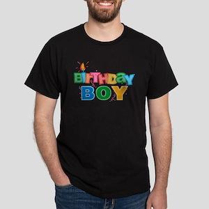 Birthday Boy Letters Dark T Shirt
