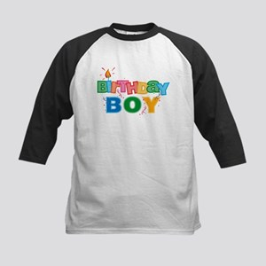 Birthday Boy Letters Kids Baseball Jersey