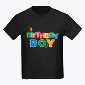 Birthday Boy Letters Kids Dark T-Shirt