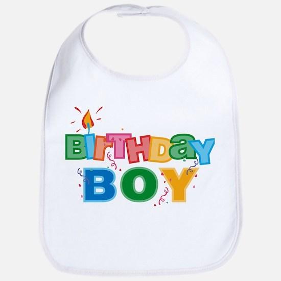 Birthday Boy Letters Bib