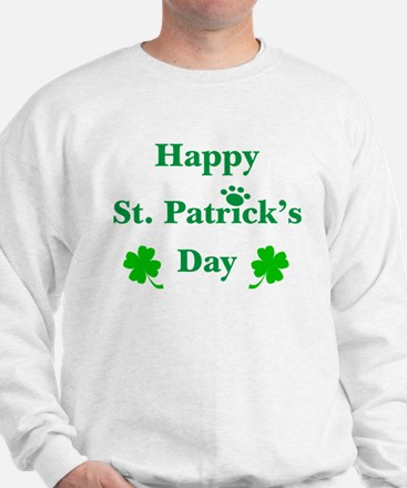 Happy St. Patricks Day W/Paw 209 Sweatshirt