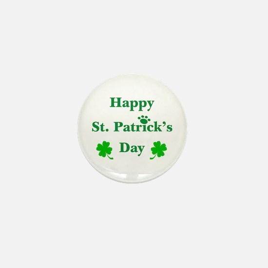 Happy St. Patricks Day W/Paw 209 Mini Button