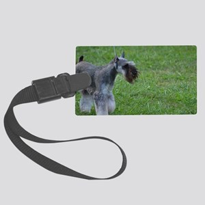 Clipped Coat on a Schnauzer Large Luggage Tag