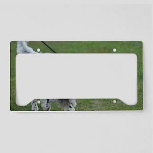 Black and White English Sette License Plate Holder