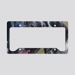 Profile of an English Setter License Plate Holder