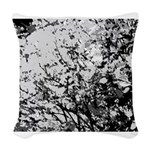 First snow Woven Throw Pillow