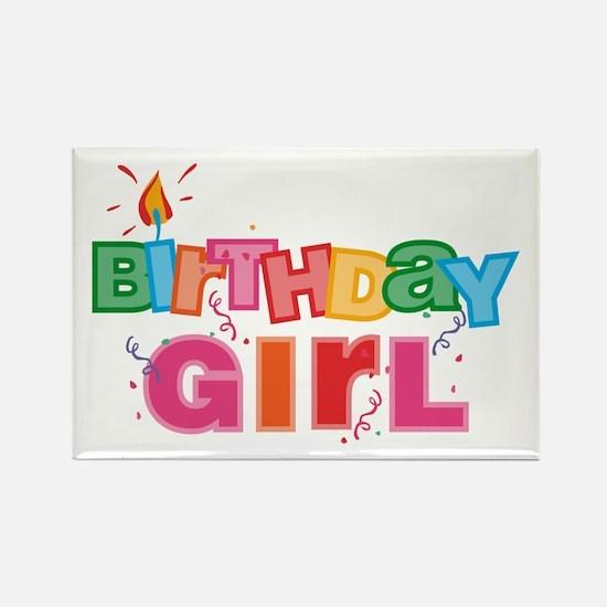 Birthday Girl Letters Rectangle Magnet