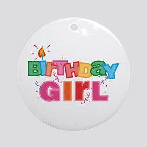 Birthday Girl Letters Ornament (Round)