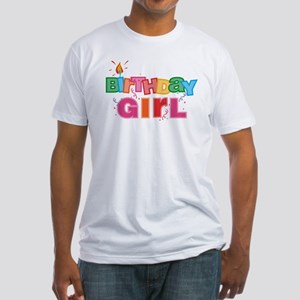 Birthday Girl Letters Fitted T-Shirt