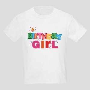 Birthday Girl Letters Kids Light T-Shirt